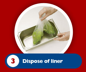 Dispose of the used liner